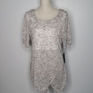 NWT AGB lightweight heathered gray sweater size M
